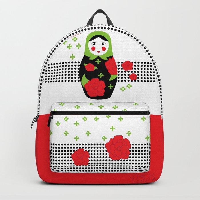 Pop-art Russian Doll Matryoshka Backpack