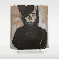 pastel goth Shower Curtains featuring Goth by Rick Onorato