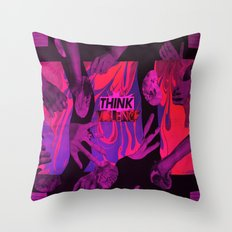 THINK VIOLENCE  Throw Pillow