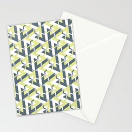 Triangle Optical Illusion Coral Dark Stationery Cards
