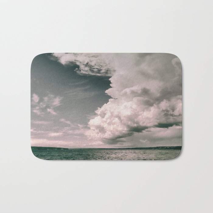 Dark clouds Bath Mat
