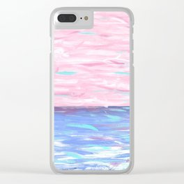 Pink Sky Delight Clear iPhone Case