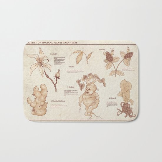 Herbology Reference Chart (Hogwarts) Bath Mat