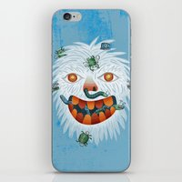 yeti iPhone & iPod Skins featuring Yeti by Santiago Uceda