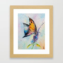 Butterfly on fiower Framed Art Print