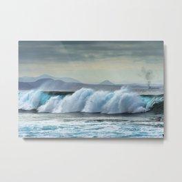 Wave Series Photograph No. 20 - The Blue Wave Metal Print