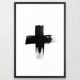 Cross Framed Art Print