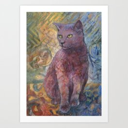 A cat named Lilly Pilly Art Print