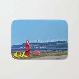 Coastal Windmill Park Bath Mat