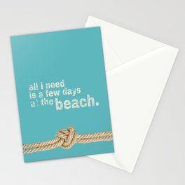 Beach Series Aqua - Beach Saying on turquoise background Stationery Cards