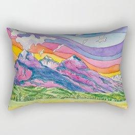 Vibrant Mountains Rectangular Pillow