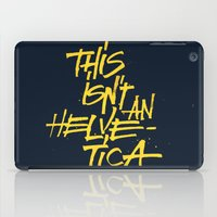 """lettering iPad Cases featuring """"Helvetica"""" Lettering by Sergi Ferrando"""