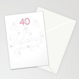 Womens 40 & Fabulous 1979 40th Diamond Shine Birthday gift T-Shirt Stationery Cards