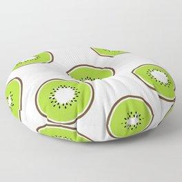 Kiwi summer fruit Floor Pillow