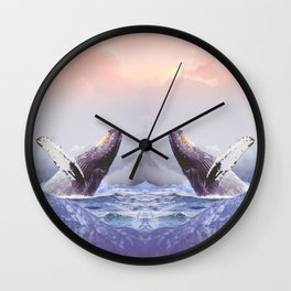 Mount Whales Wall Clock