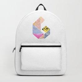 Collaged Tangram Alphabet - G Backpack