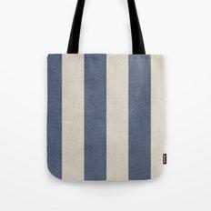 vintage dark blue stripes Tote Bag