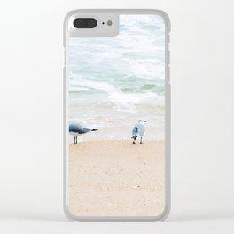 Beach Birds Clear iPhone Case