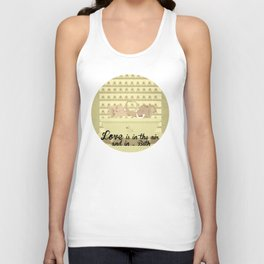 Love is in the air and in ... Bath 1 Unisex Tank Top