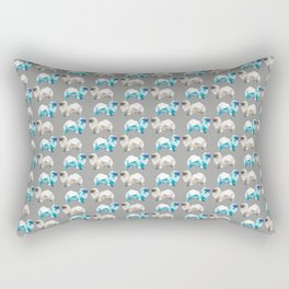 Polygon Tibetan Spaniel Elegant Taupe Pattern Rectangular Pillow