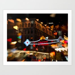 Chinatown Love in New York City Art Print