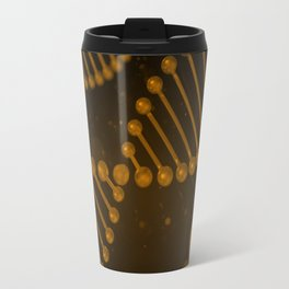 DNA strand on black background Travel Mug