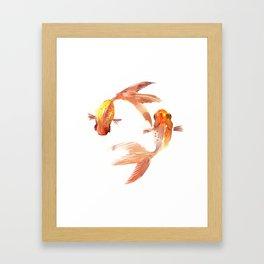 Goldfish Feng Shui, Koi Fish Framed Art Print