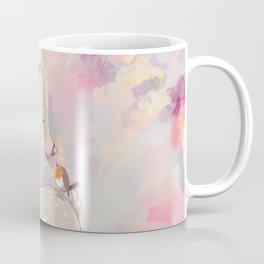 Baby Deer With Bird Nursery Decor Watercolor Painting Coffee Mug