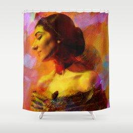 Maria Callas Shower Curtain