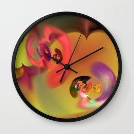 Thoughts of the heart Wall Clock