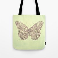butterfly Tote Bags featuring Butterfly by Mike Koubou