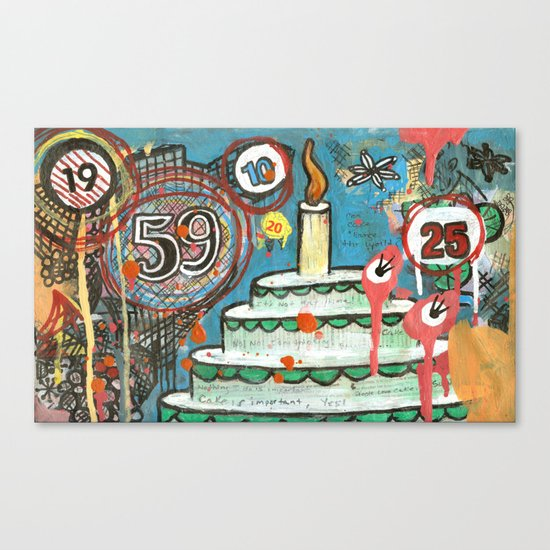 I Love Cake!  Canvas Print