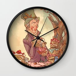 Tea Time in Wonderland Wall Clock