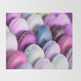 Lavender Purple Macaroons Throw Blanket
