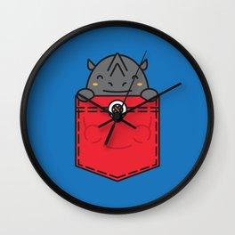 Pocket Rhino Wall Clock