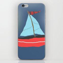 Sailboat blue sky iPhone Skin