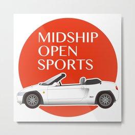 Midship Open Sports Metal Print
