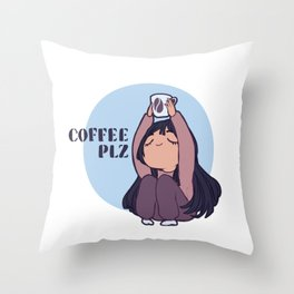 Coffee PLZ Throw Pillow