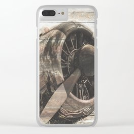 Old airplane 1 Clear iPhone Case