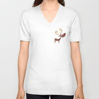 moose V-neck T-shirts featuring Moose by ValD