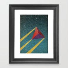 tetrahedra of space Framed Art Print