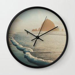 Watching the tide roll in II Wall Clock