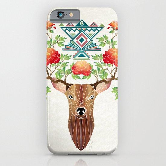 deer flowers iPhone & iPod Case