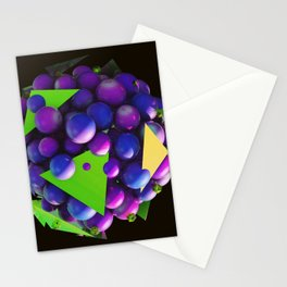 Galaxy spaceship planets 3d Stationery Cards
