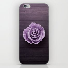 PURPLE - ROSE - ON - WOODEN - SURFACE iPhone Skin