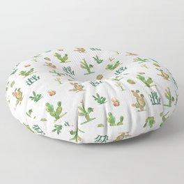 Watercolor Cactus Garden Floor Pillow
