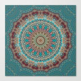 Vintage Turquoise Mandala Design Canvas Print