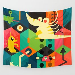 Poached Egg Party Wall Tapestry