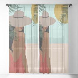 Let's go Sheer Curtain