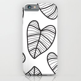 Taro Leaf with White Background iPhone Case